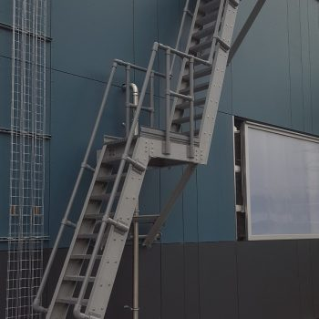 Evergrip GRP Double Landing Ship Ladder with GRP Handrail