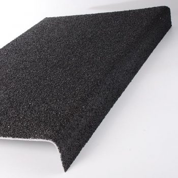 Anti-Slip Flooring Through Colour Stair Nosing Tread Cover Black