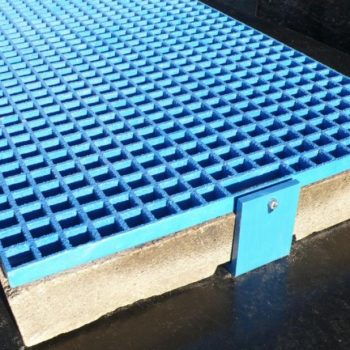 GRP Railway Systems Catch Pit Cover Blue