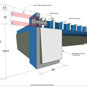 GRP Railway Systems Catch Pit Covers Cad Drawing