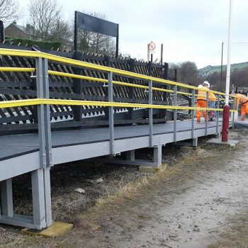 GRP Platforms with Handrails
