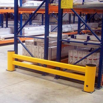 Flex Impact Industrial Safety Barriers Rack End Protection