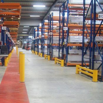 Flex Impact Industrial Safety Barriers Rack End Protection Installation
