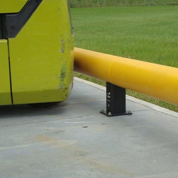 Yellow traffic barriers
