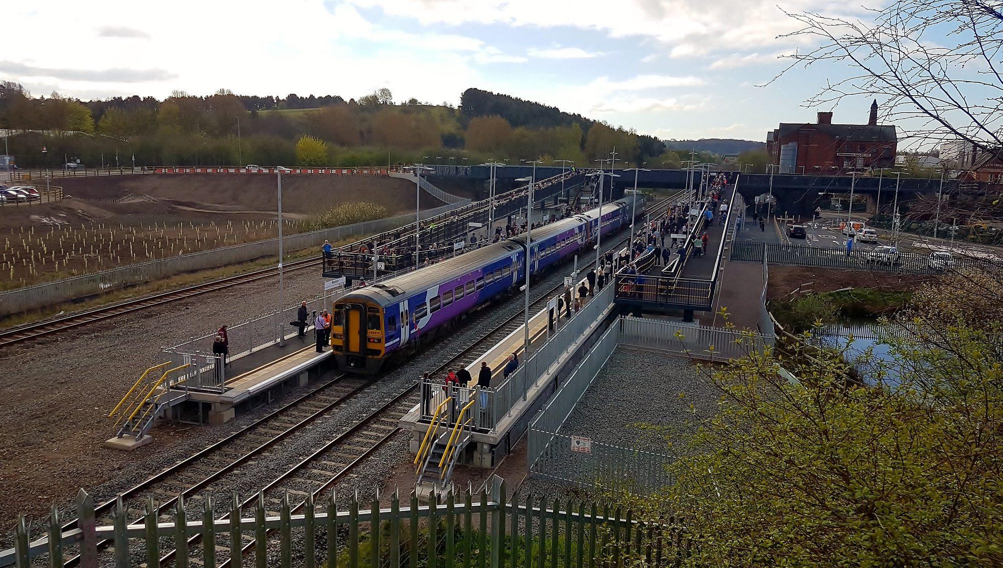 Evergrip End of Platform Stairs at llkeston Railway Station
