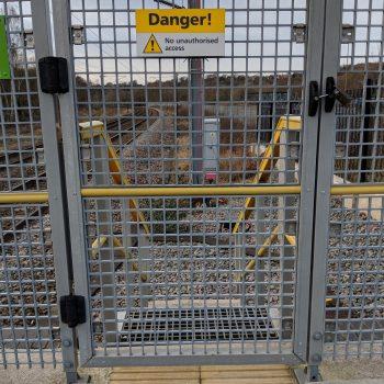 Evergrip GRP Platform Gates and Fences Installed