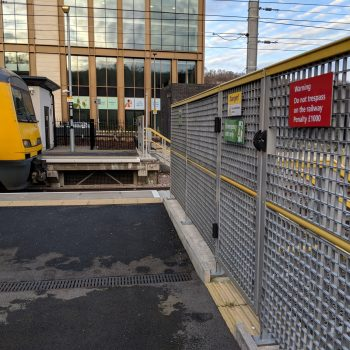 Evergrip Railway Platform Gates and Fences Installed